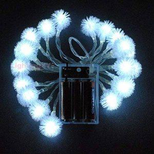 LightsGo Alimentation par Batterie Alimenté en Forme de Boule de Neige d'intérieur Guirlande Lumineuse LED 40leds 4m 40LED 4M Blanc Froid de la marque LightsGo image 0 produit