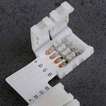 LIHAO Connecteur plat L pour rubans LED 5050 RGB, Accessoire d'éclairage Connecteur Électrique Intérieur de la marque LIHAO image 3 produit