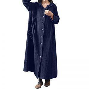 ♬LILICAT Femmes à Capuche Casual Loose Long Maxi Dress Robe à Manches Longues Manteau Veste Automne et Hiver Mesdames Plaid à col V sans Manches Haut de la marque LILICAT-Winter image 0 produit