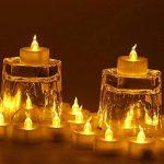 Little ants Bougies LED à Piles Bougies pour Decoration Lot DE 24 Bougies Lumières chandelles sans Flamme avec Pile Bouton Jaune de la marque Little ants image 2 produit