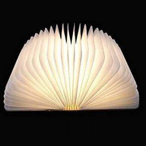 Livre Lampe, Pulchram Lampe LED Pliante en Forme de Livre avec 2000mAh Batterie Rechargeable Lithium Lampe de chevet Veilleuse Lumieres Decoratives Lampes d'ambiance 14.5*11*2.5CM (Multi, 14.5*11*2.5) de la marque Pulchram image 0 produit