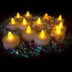 LOGUIDE LED sans flamme Bougie parfumée Paillettes Bougie chauffe-plat Alimenté par batterie éclairage pour mariage Décoration de Noël 12pcs de la marque LOGUIDE image 2 produit