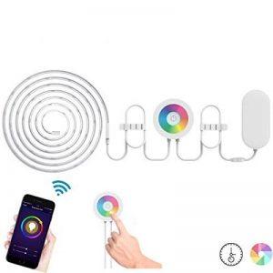 Lombex Wifi Smart Bande Eclairage Flexible ruban kit d'éclairage Compatible avec Alexa à distance contrôle vocal RVB LED strip lumière d'ambiance changeant de couleur ruban DIY lumières pour jardin Maison de cuisine de voiture Barre de fête, Rgb Strip 5m, image 0 produit