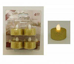 Lot 4 bougies bougie LED Decoration Table Maison Noel Fete Doré - 107 de la marque LCN image 0 produit