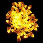 Lot 50pcs LED Ampoule en Forme de Balle pour Balloon Lanterne Lumière D'ambiance de Fête - Jaune de la marque Générique image 2 produit