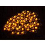 Lot 50pcs LED Ampoule en Forme de Balle pour Balloon Lanterne Lumière D'ambiance de Fête - Jaune de la marque Générique image 3 produit