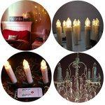 Lot de 10bougies LED Electronic Bougies Sapin de Noël lumières pour mariage Église Halloween Noël Fête d'anniversaire, Plastique, White Candle, Yellow Flame de la marque Winterworm image 4 produit