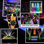 Lot de 100 Bâtons Lumineux Fluorescents, Bracelets Fluorescents Lumineux Glow - 100 bâtons lumineux + 100 connecteurs 3D + 10 connecteurs circulaires + 5 connecteurs 7 trous + 5 connecteurs papillon + 12 connecteurs à œillets Idéal pour le fête de la marq image 3 produit