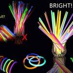Lot de 100 Bâtons Lumineux Fluorescents, Bracelets Fluorescents Lumineux Glow - 100 bâtons lumineux + 100 connecteurs 3D + 10 connecteurs circulaires + 5 connecteurs 7 trous + 5 connecteurs papillon + 12 connecteurs à œillets Idéal pour le fête de la marq image 4 produit