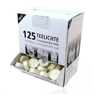 Lot de 125 bougies d'ambiance Smart Planet® dans un distributeur - Bougies chauffe-plat avec une longue durée de combustion - Blanches avec une coque transparente de la marque Smart Planet image 0 produit