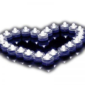 Lot de 12pcs Bougies LED étanche Submersible Lampe étanche Waterproof lumières de thé avec Pile Bouton Blanc de la marque Little ants image 0 produit