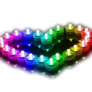 Lot de 12pcs Bougies LED étanche Submersible Lampe étanche Waterproof lumières de thé avec Pile Bouton Multi-Couleur de la marque Little ants image 0 produit