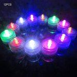 Lot de 12pcs Bougies LED étanche Submersible Lampe étanche Waterproof lumières de thé avec Pile Bouton Multi-Couleur de la marque Little ants image 1 produit