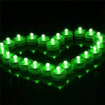 Lot de 12pcs Bougies LED étanche Submersible Lampe étanche Waterproof lumières de thé avec Pile Bouton Vert de la marque Little ants image 1 produit