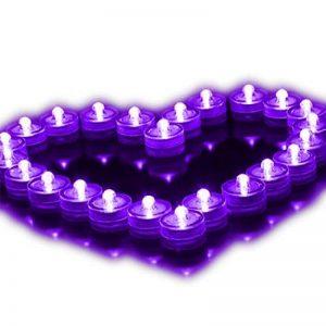 Lot de 12pcs Bougies LED étanche Submersible Lampe étanche Waterproof lumières de thé avec Pile Bouton Violet de la marque Little ants image 0 produit