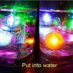 Lot de 12pcs Bougies LED étanche Submersible Lampe étanche Waterproof lumières de thé avec Pile Bouton Violet de la marque Little ants image 2 produit
