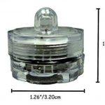 Lot de 12pcs Bougies LED étanche Submersible Lampe (Vert) de la marque Little ants image 3 produit