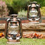 Lot de 2 Lanterne LED Tempête - Lampe Decorative Vintage Retro Bronze à Pile pour Camping, Maison, Table, Déco de PK Green de la marque PK Green image 1 produit