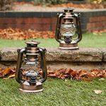Lot de 2 Lanterne LED Tempête - Lampe Decorative Vintage Retro Bronze à Pile pour Camping, Maison, Table, Déco de PK Green de la marque PK Green image 2 produit