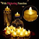Lot de 24 Bougies LED, 60+ Heures D'éclairage, Décoré de Pétales de Rose, Blanc Chaud de la marque OMGAI image 2 produit