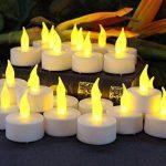 Lot de 24 Bougies LED à Pile Bougies à LED Fausses Bougies électriques pour Votive Anniversaire Mariage fête Noël (Ambre Jaune) de la marque Cookey image 4 produit