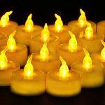 Lot de 24 Bougies LED à Pile Bougies à LED Fausses Bougies électriques pour Votive Anniversaire Mariage fête Noël (Ambre Jaune) de la marque Cookey image 0 produit