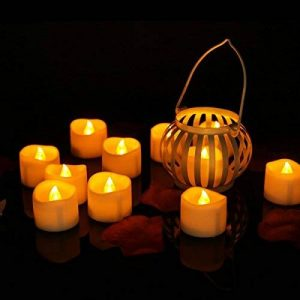 Lot de 24 Lumières Bougies à LED, Sans Flamme, Réaliste et Bright, LED Lumières de Thé à Piles - Fausses Bougies électriques pour Votive, Table Party Anniversaire Mariage de la marque Little ants image 0 produit