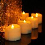 Lot de 24 Lumières Bougies à LED, Sans Flamme, Réaliste et Bright, LED Lumières de Thé à Piles - Fausses Bougies électriques pour Votive, Table Party Anniversaire Mariage de la marque Little ants image 3 produit