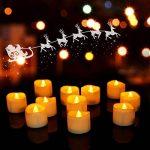 Lot de 24 Lumières Bougies à LED, Sans Flamme, Réaliste et Bright, LED Lumières de Thé à Piles - Fausses Bougies électriques pour Votive, Table Party Anniversaire Mariage de la marque Little ants image 4 produit