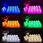 Lot de 24pcs Bougies LED à Piles sans Flamme, Réaliste et Bright, LED Lumières de Thé - Fausses Bougies électriques pour Votive, Table Party Anniversaire Mariage Bleu de la marque Little ants image 3 produit
