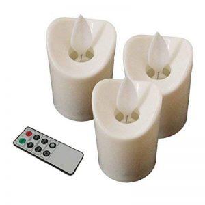 Lot de 3 Bougies à Led avec Flamme Vacillante comme Candle Réelle avec Télécommande Bougie électronique de la marque Little ants image 0 produit