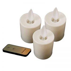 Lot de 3 Bougies à Led avec Flamme Vacillante comme Candle Réelle avec Télécommande Bougie électronique Ronde de la marque Little ants image 0 produit