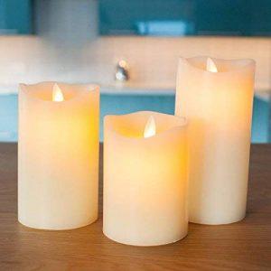 Lot de 3 Bougies LED Crèmes en Cire avec Flamme Dansante par Lights4fun de la marque Lights4fun image 0 produit