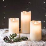 Lot de 3 Bougies LED Crèmes en Cire avec Flamme Dansante par Lights4fun de la marque Lights4fun image 2 produit