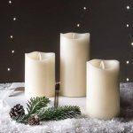 Lot de 3 Bougies LED Crèmes en Cire avec Flamme Dansante par Lights4fun de la marque Lights4fun image 3 produit