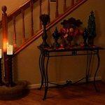 Lot de 3 bougies LED en cire véritable avec effet de flamme vacillante, fonctionnement à pile, télécommande 10touches et minuterie 24heures Hauteur env. 10/12/15cm Couleur ivoire de la marque JYD image 3 produit