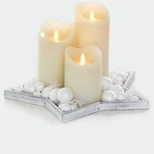 Lot de 3 Bougies LED Scintillantes en Cire de la marque SysLED image 0 produit