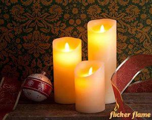 Lot de 3 Cierges Cire à LED imitation Flamme Dansante de la marque Flicker Flame image 0 produit