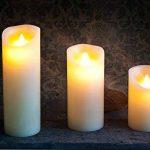 Lot de 3 Cierges Cire à LED imitation Flamme Dansante de la marque Flicker Flame image 2 produit