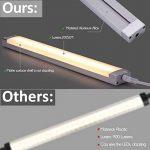 Lot de 3 - Lampe LED à intensité variable pour plan de travail/sous meuble de cuisine/armoire/placard - Accessoires inclus - 24 LED 12 W 1005 lumens 3200 K - Blanc chaud de la marque EECOO image 3 produit