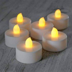 Lot de 30 Bougies Chauffe-Plat à Piles avec Flamme LED Vacillante de Lights4fun de la marque Lights4fun image 0 produit