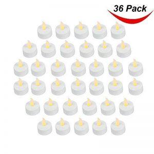 Lot de 36réaliste et lumineux à piles vacillante sans flamme Bougie chauffe-plat LED bougies, 3.5cmx4.2cm de hauteur, prise de courant électrique Faux Bougie avec piles incluses–Jaune–Petit de la marque Bargain Outlet image 0 produit