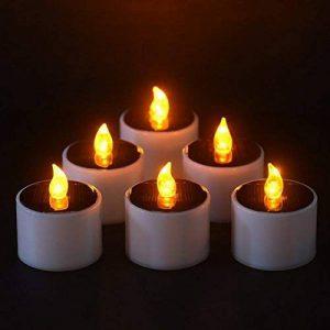 Lot de 6 Bougies Solaire à LED Bougies Chauffe-plats Sans Flamme Réaliste et Bright pour Votive Table Party Anniversaire Mariage(Blanc Chaud) de la marque NORDSD image 0 produit