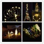 Lot de 6Bouteille lumière Guirlande lumineuse Blanc chaud 78dans bouteilles (200cm) LED lumière fil de cuivre Cork Veilleuse LED Forme de Bouteille de Vin Mariage Party romantique pour bouteille DIY Décoration, fête, décor, Noël, Halloween, Mariage ou image 1 produit