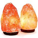 Lot de deux lampes de sel de l'Himalaya Amethya (lot de deux) de la marque Amethya image 1 produit