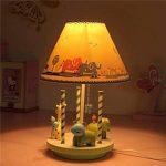 LQQGXL Lampe de bureau carrousel créative, lampe de table décorée pour chambre d'enfant, lampe en résine. Lampe simple de la marque LQQGXL image 3 produit