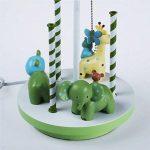 LQQGXL Lampe de bureau carrousel créative, lampe de table décorée pour chambre d'enfant, lampe en résine. Lampe simple de la marque LQQGXL image 4 produit