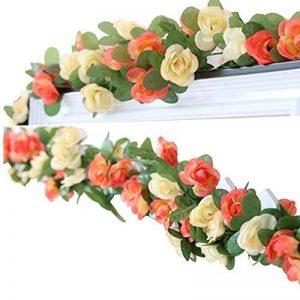 Lumenty Lot de 2guirlandes de fleurs artificielles Violet, Champagne de la marque LumenTY image 0 produit
