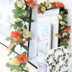 Lumenty Lot de 2guirlandes de fleurs artificielles Violet, Champagne de la marque LumenTY image 2 produit