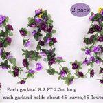 Lumenty Lot de 2guirlandes de fleurs artificielles Violet, violet, Purple de la marque LumenTY image 1 produit